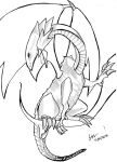 Blue-Eyes White Dragon Line Art by theBEWW