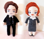 Mulder and Scully - The X-Files by Squisherific