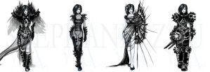 Female Armor sketches by cataftercat