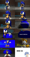 Sonic's butt inflates comic by SonicInflationLover