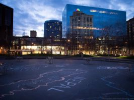 Rosa Parks Circle At Dusk by KBeezie