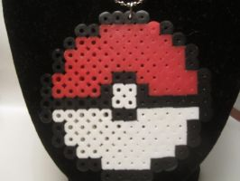 Pokeball Perler Necklace by colbyjackchz