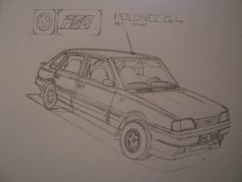 FSO Polonez Caro Orciari sketch by BlackLeatheredOokami
