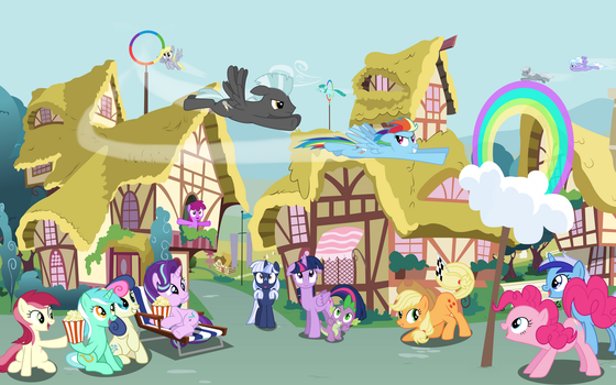 The Ponyville Pegasus Race by Mundschenk85