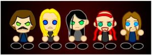 Chibi Dethklok by LegendaryFrog