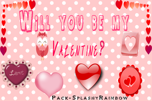Would you be my Valentine-Pack by SplashyRainbow