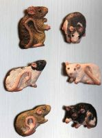Custom Rat Magnets by greyviolett