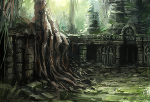 Jungle Ruins by Odobenus