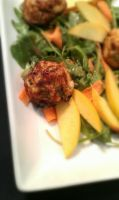 Crab Ball and Nectarine Salad Detail by PrYmO-ART