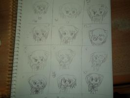 ryou expressions by Fallinginreverse1298