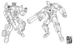 Prime and Megatron NeoClassics by rattrap587