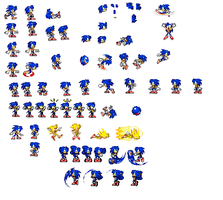 Female sonic sprites 2.0 by mechaelite