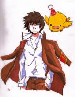 Hibari Kyoya and Hibird by DrinkCactusJuice