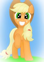 Happy AppleJack full render by Blue-Blazer-pony