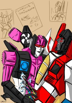 Lunaclub And Starscream by Logna