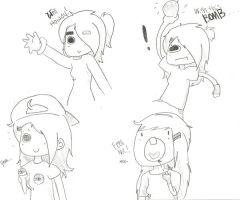 4 doodles 1 page. by Turbo-Chan