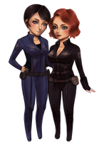 Maria and Natasha by AmyWinterbreeze