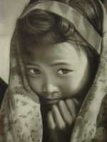 Portrait with charcoal by gkshweta