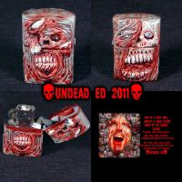 Zombie Zippo Lighter With Eye by Undead-Art