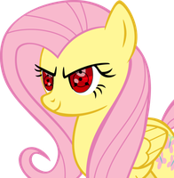 Sharingan Fluttershy ''eye design test'' by PhoenixKatFury