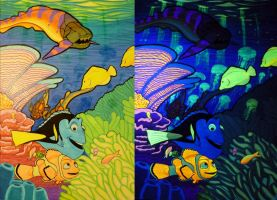 Coral Reef Blacklight poster by spohniscool