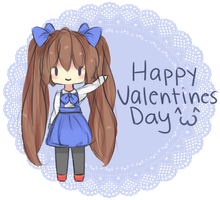 Happy Valentines Card by MacaronTeaChan