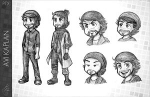 Pentatonix - PTX comic - Avi Kaplan by Raelys-Fenrika