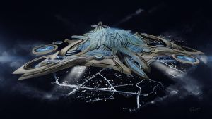 Protoss Mothership by felipevzsouza