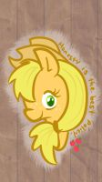 Applejack iphone 5 wallpaper by SuzyQ2pie