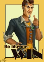 Handsome Jack Motivational Poster by summerintevinter