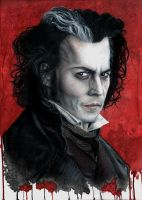 Johnny Depp as Sweeney Todd by Drimr