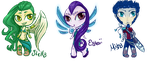 Chibi Trio: Make an offer by MeganEliMoon