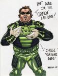 Green Lantern Jack Black by dadicus