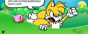 Tails VS Photoshop by Iyzeekiil