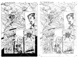 Star Wars AOTE #5 p16 with pencils by JulienHB