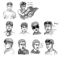 Dr Horrible/ Billy Buddy Doodles by VengefulSpirits