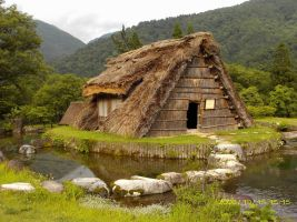 Thatched Roof House by hekelachan