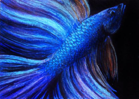 Blue - ACEO by LuxDani
