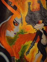 Twili Midna and imp Midna by bug-xx