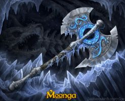 Moonga- Itlan Axe by GoldenDaniel