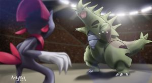 BATTLE! Weavile VS Tyranitar