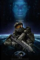 Master Chief and Cortana Halo 4 Photoshop Fan Art by rs2studios