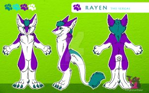 Rayen the Sergal - Reference Sheet by FurryFursuitMaker