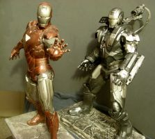 War Machine-My Way-with Iron Man Mk6 by Roguewing