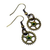 Steampunk Earrings by CatherinetteRings