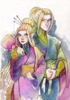 Alvarr and Alvhild by Vampiii