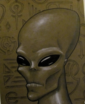 Alien portrait by SkankyThor