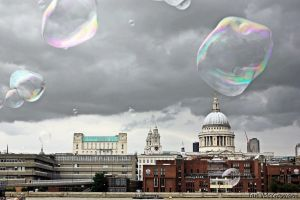 Bubbles attack St Pauls , London . by 999999999a