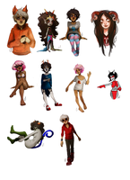 various homestuck doodles by Deserea-Q