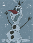 Warm Up 3, 12-28-2013 Olaf from Disney's FROZEN by Hodges-Art